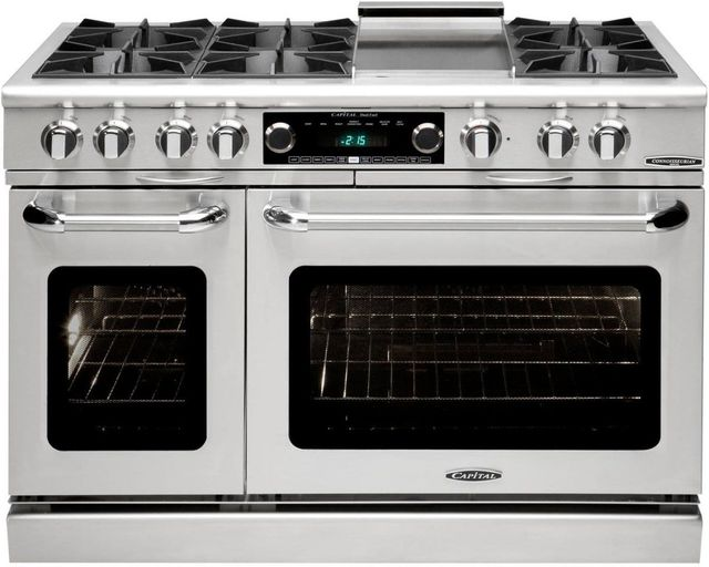 """Capital Connoisseurian 48"""" Stainless Steel Free Standing Dual Fuel Range-COB484G2N"""