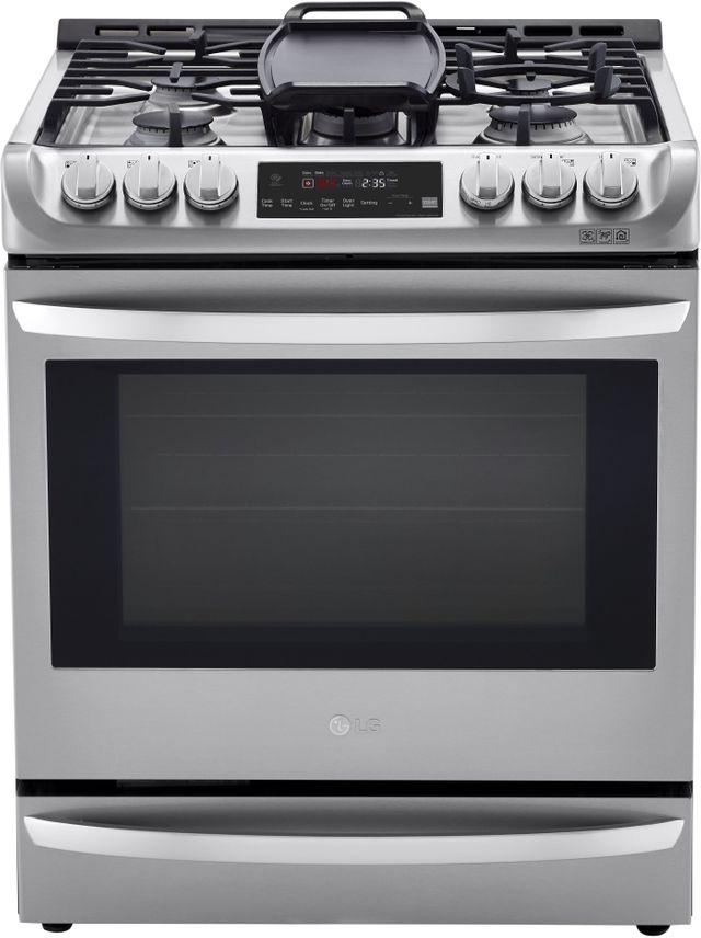 """LG 30"""" Stainless Steel Slide In Dual Fuel Single Oven Range-LSD4913ST"""