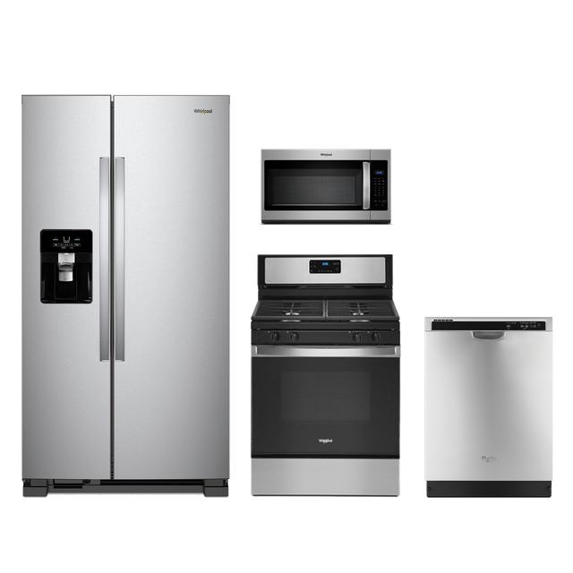 Whirlpool® 4 Piece Kitchen Package-Stainless Steel-WHKITWFG320M0BS