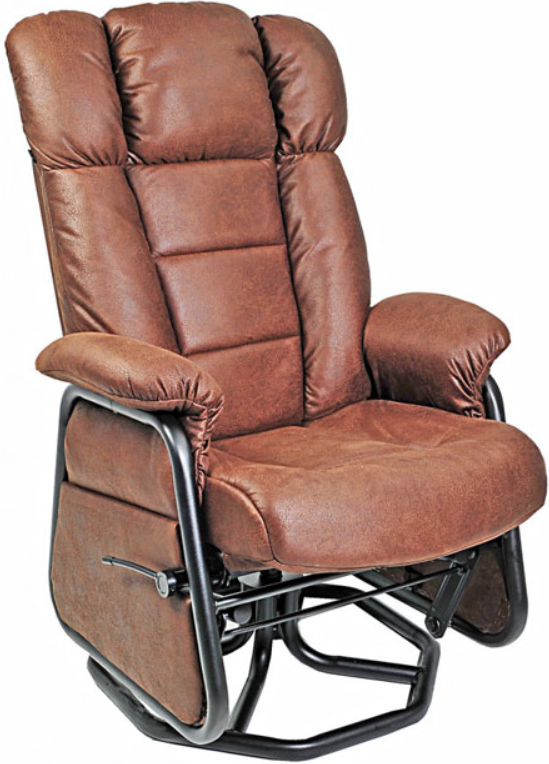 Fauteuil inclinable PEL en tissu brun PEL International®-114017