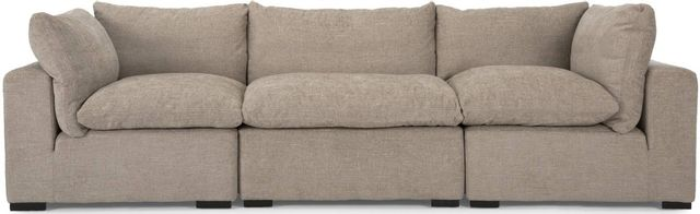 Decor-Rest® Furniture LTD 2660 3-Piece Beige Sectional Sofa-2660-05+23+05
