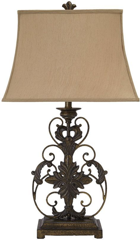 Signature Design by Ashley® Sallee Gold Finish Table Lamp-L200064