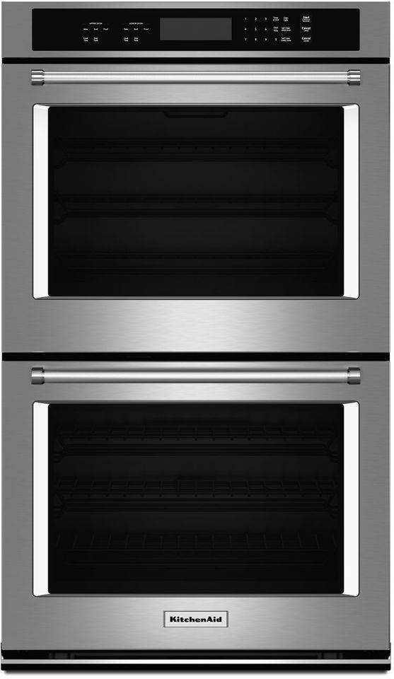 """KitchenAid® 30"""" Stainless Steel Electric Double Oven Built In-KODT100ESS"""
