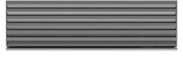 """Sub-Zero® 60"""" Pro Louvered Grille with Dual Installation Kit-7020161"""