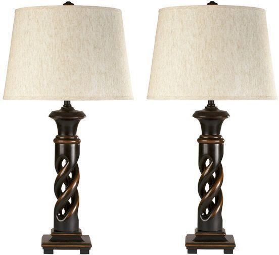 Signature Design by Ashley® Fallon Set of 2 Black Table Lamps-L235334