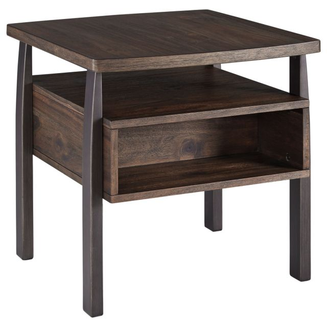 Signature Design by Ashley® Vailbry Brown Rectangular End Table with USB Ports-T758-3