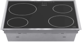 """Bosch Series 500  24"""" Stainless Steel Electric Cooktop-NET5466SC"""