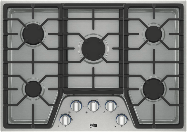 """Beko 30"""" Stainless Steel Built In Gas Cooktop-BCTG30500SS"""