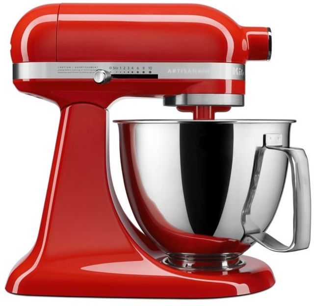 KitchenAid® Artisan® Mini Hot Sauce 3.5 Quart Stand Mixer-KSM3316XHT