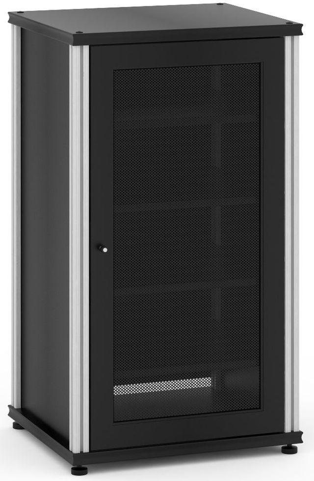 Salamander Designs® Synergy Model 402 AV Cabinet-Black/Aluminum-SB402B/A