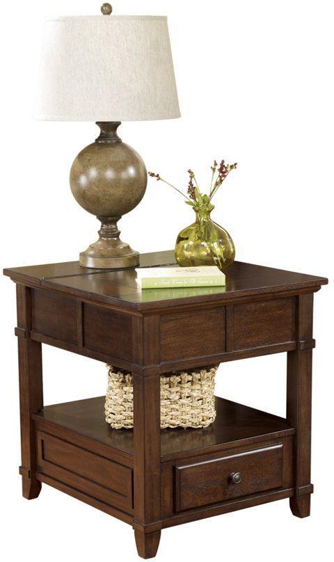 Signature Design by Ashley® Gately Medium Brown Rectangular End Table-T845-3