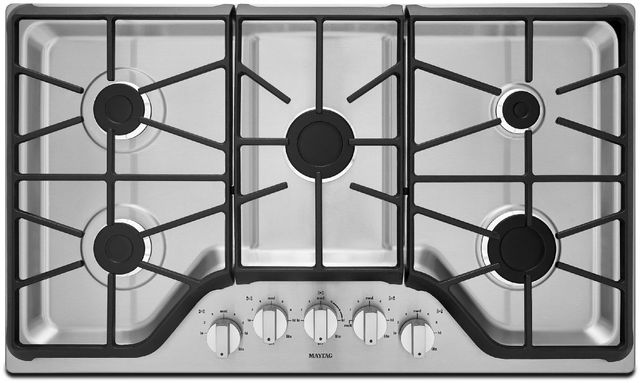 """Maytag® 36"""" Stainless Steel Gas Cooktop-MGC7536DS"""