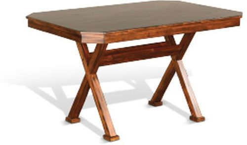 Sunny Designs Tuscany Vintage Mocha Dining Table-0222VM-T