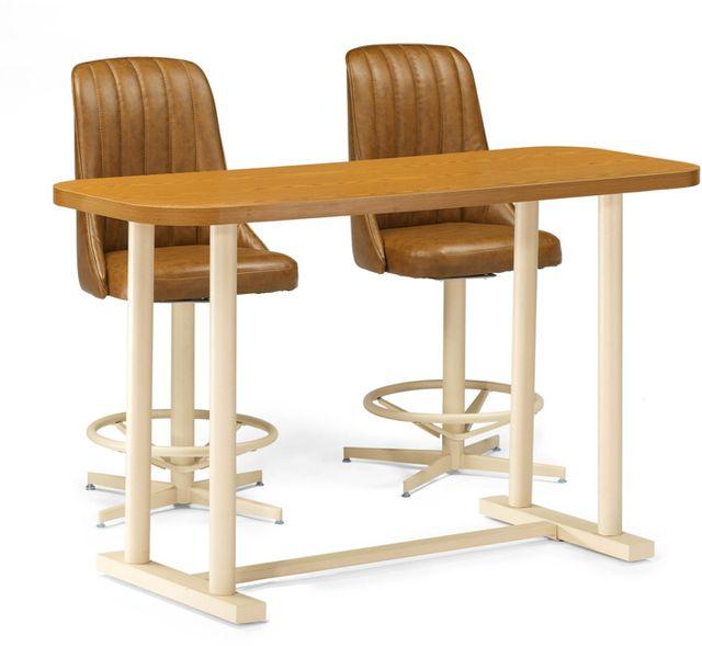 Chromcraft™ Dining Table-CD2460M+CD60AS