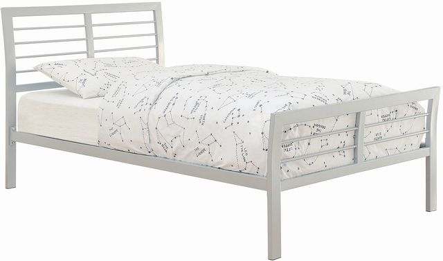 Coaster® Cooper Silver Twin Youth Metal Bed-300201T