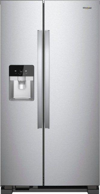 Whirlpool® 21.4 Cu. Ft. Side-by-Side Refrigerator-Fingerprint Resistant Stainless Steel-WRS321SDHZ