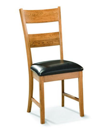 Intercon Family Dining Chestnut Ladder Back Side Chair-FD-CH-169C-CNT-RTA