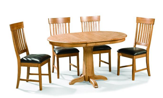 Intercon Family Dining Collection Pedestal Table Base-FD-TA-L4260-CNT-BSE