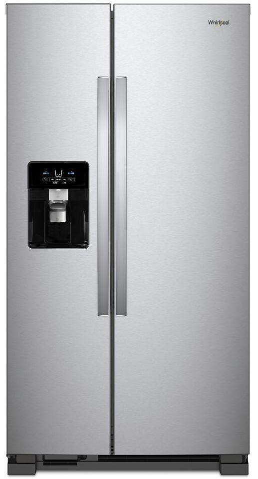 Whirlpool® 24.6 Cu. Ft. Side-by-Side Refrigerator-Fingerprint Resistant Stainless Steel-WRS325SDHZ