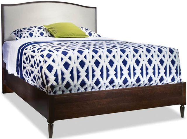 Durham Furniture Solid Accents Ebony Brown Queen Upholstered Arch Top Bed-900-122