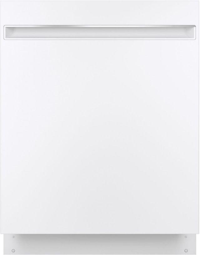 "GE® 24"" Built-In Dishwasher-White on White-GDT225SGLWW"