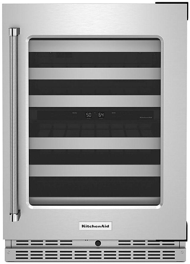 KitchenAid® 4.97 Cu. Ft. Stainless Steel Wine Cooler-KUWR314KSS