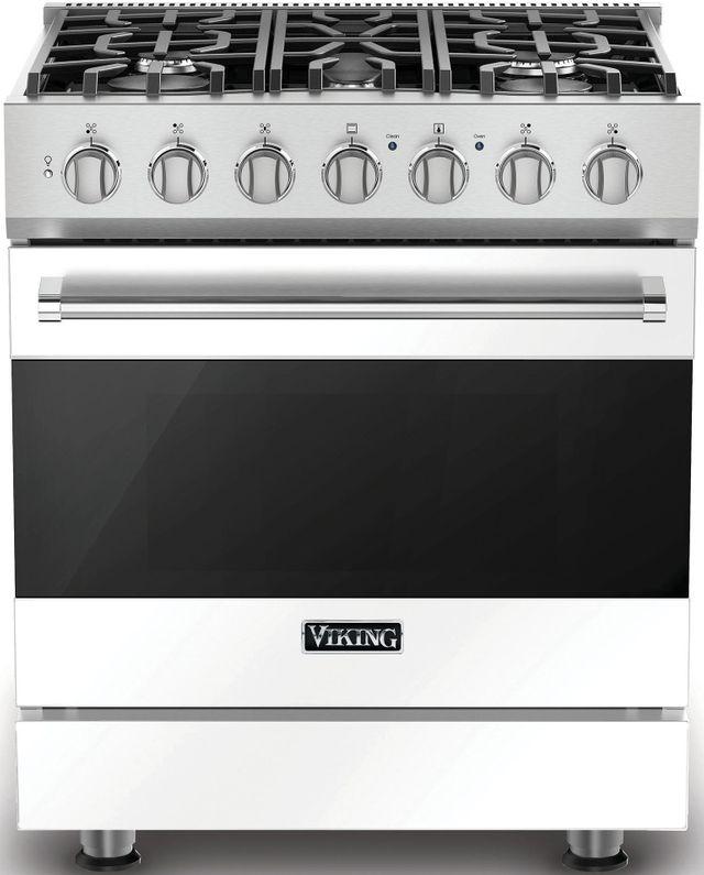 """Viking® 3 Series 30"""" Freestanding Gas Range-White-RVGR33025BWHLP"""