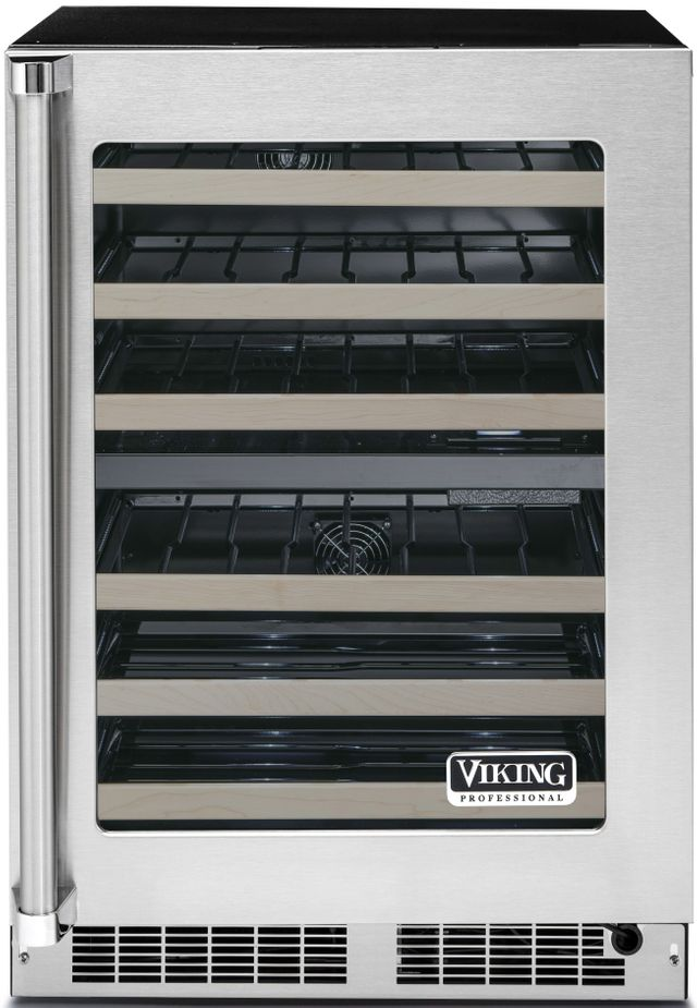 """Viking® Professional 5 Series 23.88"""" Stainless Steel Frame Undercounter Wine Cooler-VWUI5240GRSS"""