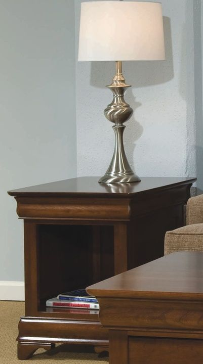 Durham Furniture Solid Accents Candlelight Cherry Louis Philippe End Table-900-532C