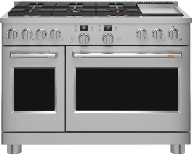 """Café™ 48"""" Stainless Steel Professional Style Dual Fuel Range -C2Y486P2TS1"""