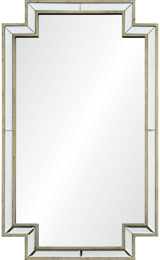 Miroir mural Raton, champagne antique argenté, Renwil®-MT2071