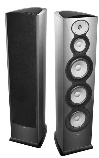 "Revel® F328Be Silver 3-Way Triple 8"" Floor Standing Loudspeaker-REVF328BESIL"
