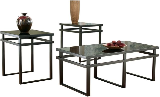 Signature Design by Ashley® Laney Black 3 Piece Occasional Table Set-T180-13