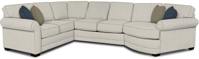 England Furniture Co. Brantley 4 Piece Culpepper Snow/Alvarado Mineral/Marchesa Versace Sectional-5630-28-22-43-95+8613+8778+8601