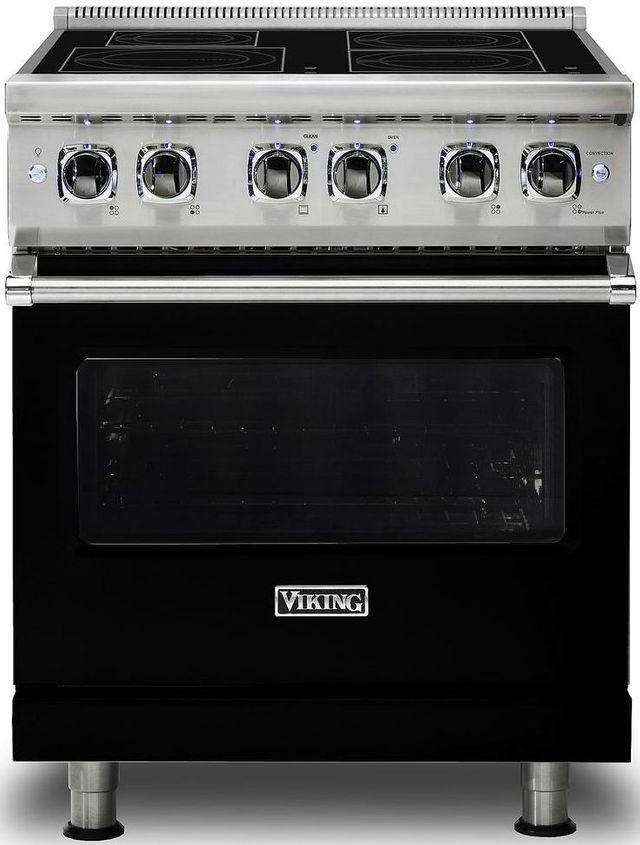 """Viking® Professional 5 Series 30"""" Free Standing Induction Range-Black-VIR5304BBK"""