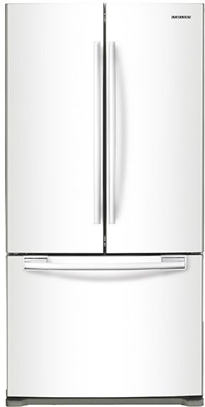 Samsung 20 Cu. Ft. French Door Refrigerator-White-RF20HFENBWW