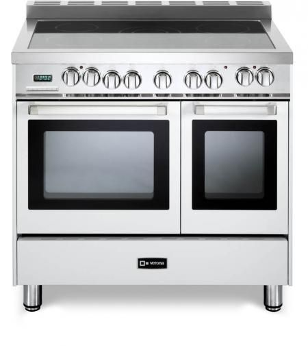 """Verona N Series 36"""" White Free Standing Double Oven Electric Range-VEFSEE365DW"""