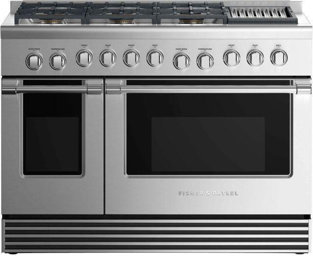 """Fisher Paykel 48"""" Pro Style Gas Range-Stainless Steel-RGV2-486GLL N"""