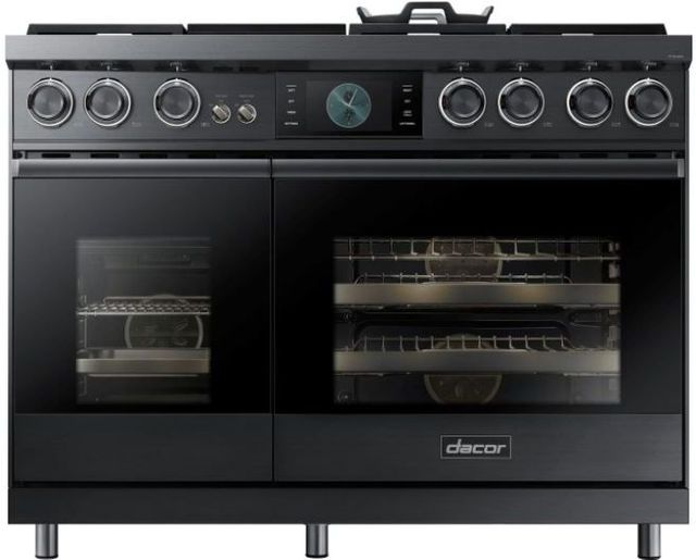"""Dacor® Contemporary 48"""" Pro Dual-Fuel Steam Range-Graphite Stainless Steel-DOP48M96DPM"""