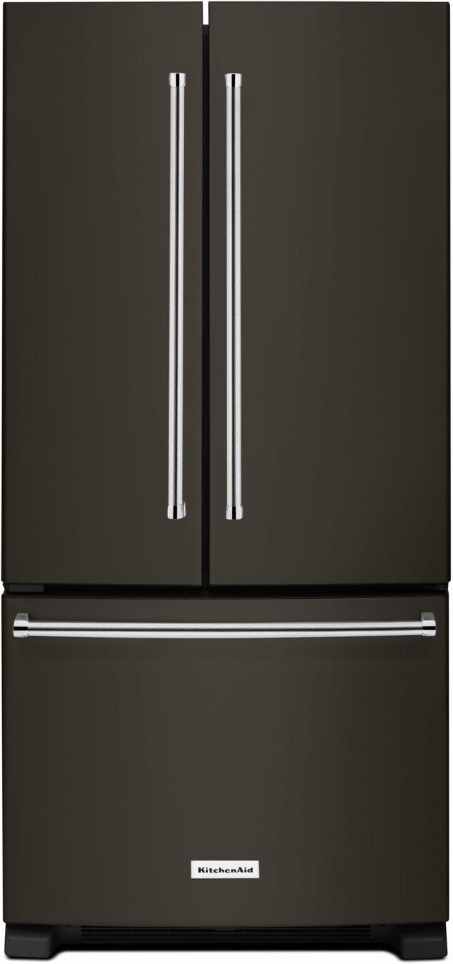 Réfrigérateur à portes françaises de 33 po KitchenAid® de 22,1 pi³ - Acier inoxydable résistant aux traces de doigts-KRFF302EBS