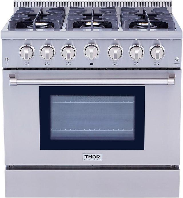 "Thor Kitchen® 36"" Stainless Steel Pro Style Gas Range-HRG3618U"