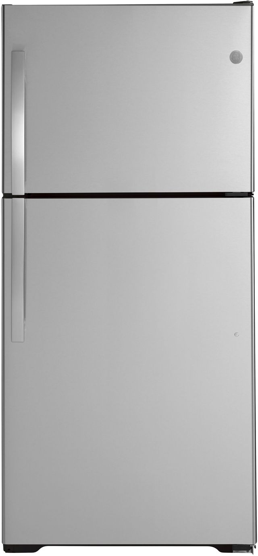GE® 19.1 Cu. Ft. Stainless Steel Top Freezer Refrigerator-GIE19JSNRSS