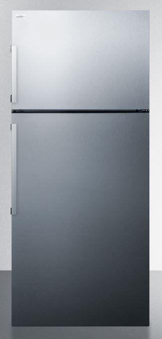 Summit® 12.6 Cu. Ft. Counter Depth Top Freezer Refrigerator-Stainless Steel-FF1511SS