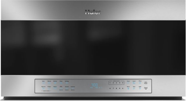 Haier 1.6 Cu. Ft. Stainless Steel Smart Over The Range Microwave Oven-QVM7167RNSS