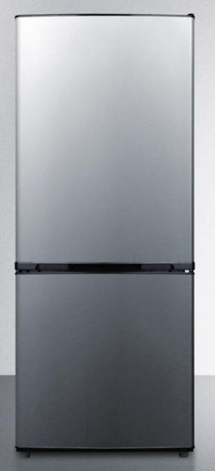 Summit® 10.2 Cu. Ft. Bottom Freezer Refrigerator-Stainless Steel-FFBF101SS