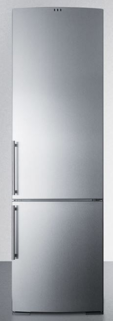 Summit® 12.5 Cu. Ft. European Counter Depth Bottom Freezer Refrigerator-Stainless Steel-FFBF181SS