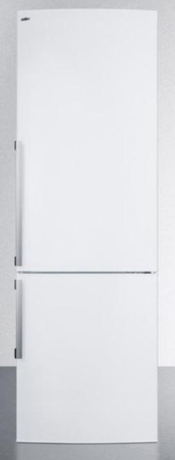 Summit® 9.85 Cu. Ft. Counter Depth Bottom Freezer Refrigerator-White-FFBF240WX