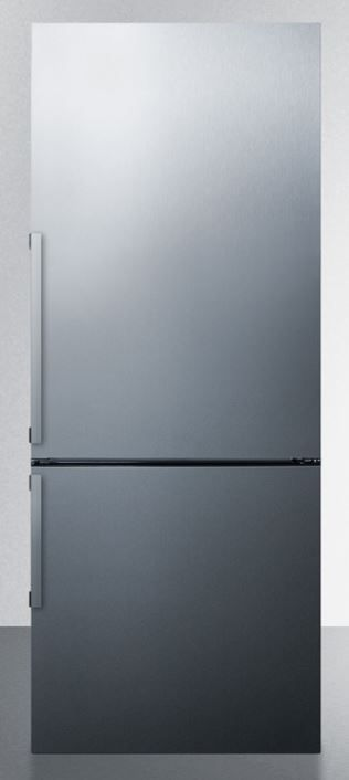 Summit® 16.4 Cu. Ft. Bottom Freezer Refrigerator-Stainless Steel-FFBF287SSIM