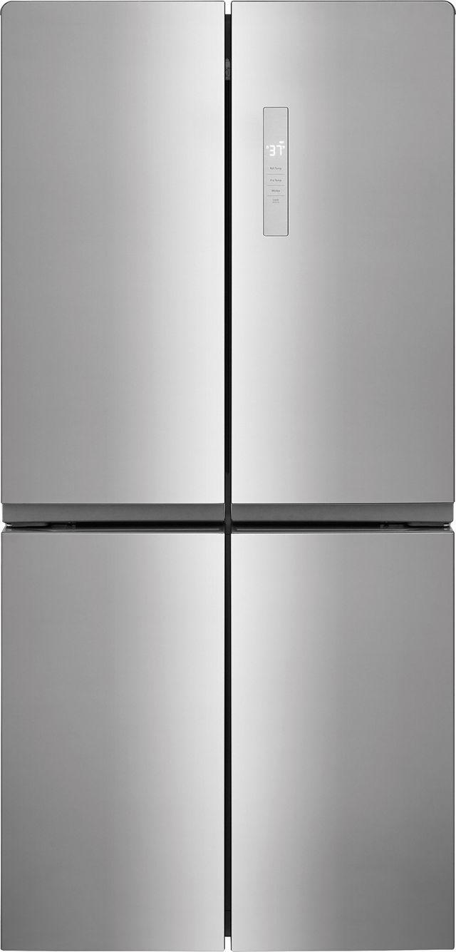 Frigidaire® 17.4 Cu. Ft. Brushed Steel Counter-Depth 4-Door French Door Refrigerator-FFBN1721TV