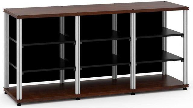 Salamander Designs® Synergy Triple 30 AV Cabinet-Dark Walnut/Aluminum-SL30W/A